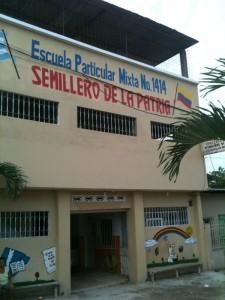 De school na de uitbreiding van 2013