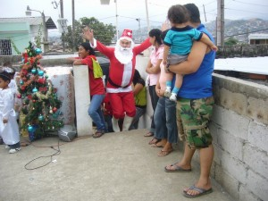 de kerstman wist ook van het kerstfeest